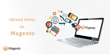 Upload products on magento