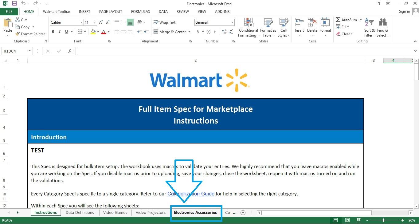 Walmart listing