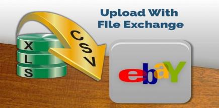 upload, post or add item on eBay through Excel CSV file using File Exchange
